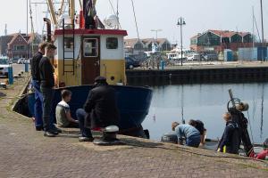 Urk, Fischer bei einer Pause