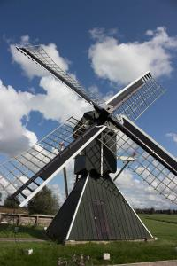 Poldermühle, die Wasser schöpft