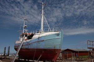 ehrwürdig altes Fischerboot