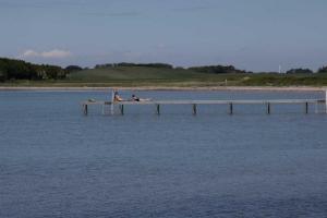 Strand mit langem Steg