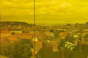 Stadt Aarhus gelb eingefärbt