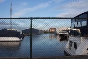 Bootshäuser  der Werft Aquanaut