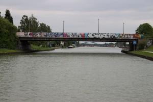 letzte Brücke vor der Schleuse