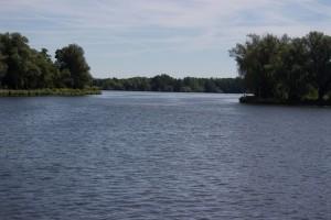 Einfahrt in Marina Havel Auen