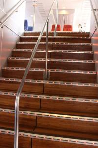 Treppe zum Oberdeck