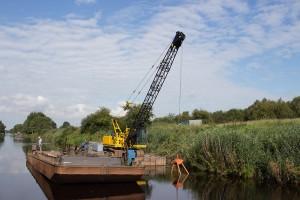 Arbeiten an der Kanalwand
