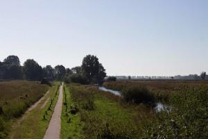 grosses Fahrradweg-Netz