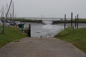 Hafen bei Niedrigwasser