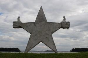 Stern auf dem Deich
