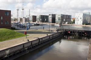 Schleuse, Neuer Hafen, Marina Loyd